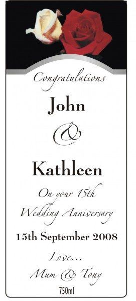 Anniversary wine labelling, wine design, wedding wine, wine label
