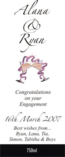 Engagement wine labelling, wine design, wedding wine, wine label