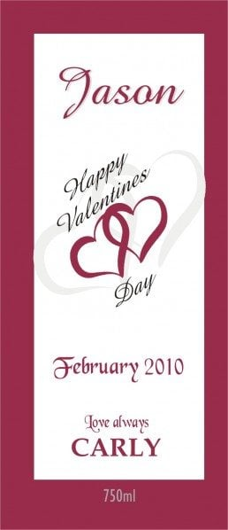 valentine wine labelling, wine design, wedding wine, wine label