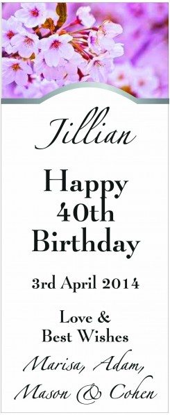 BIRTHDAY LABEL - wine labelling, wine design, wedding wine, wine label
