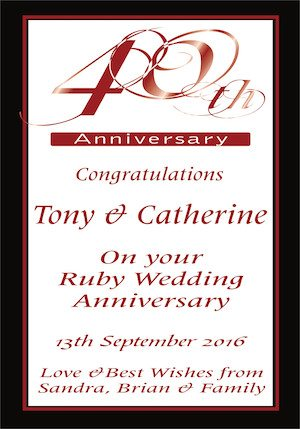 ANNIVERSARY 40TH LABEL, wine labelling, wine design, wedding wine, wine label
