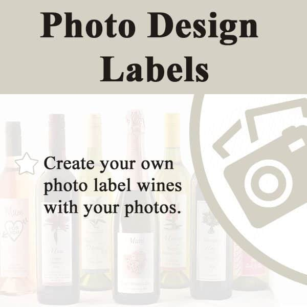 photo wine labelling, wine design, wedding wine, wine label