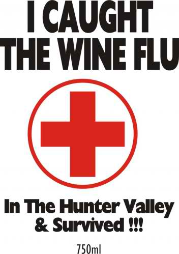 Wine Flu - wine labelling, wine design, wedding wine, wine label