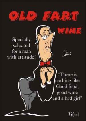 Old Fart Wine labelling, wine design, wedding wine, wine label