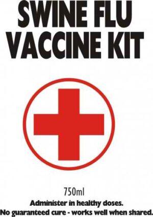 Swine Flu Vaccine wine labelling, wine design, wedding wine, wine label