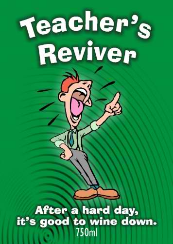 teacher`s reviver - wine labelling, wine design, wedding wine, wine label
