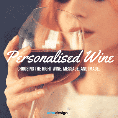 personalised customised wine labelling, wine design, wedding wine, wine label