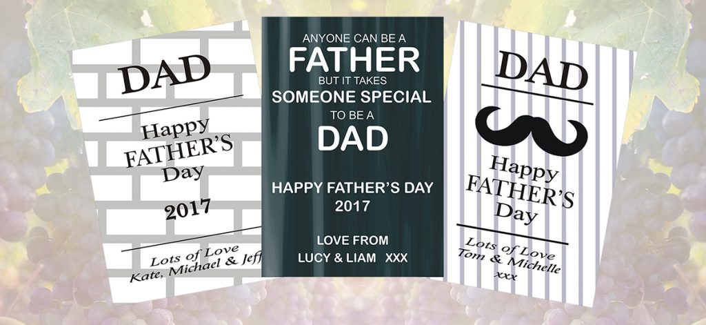 Father's Day - wine labelling, wine design, wedding wine, wine label