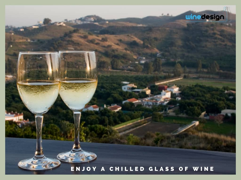 enjoy a chilled glass of wine
