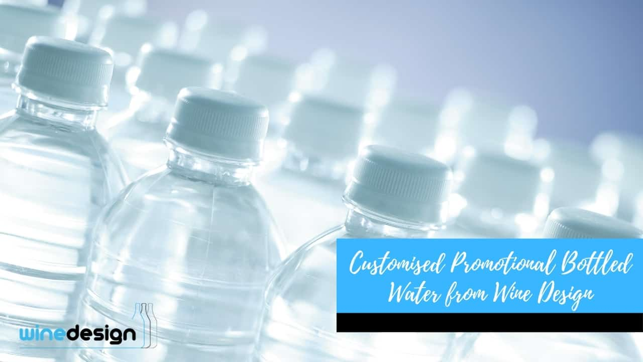 Customised Promotional Bottled Water from Wine Design